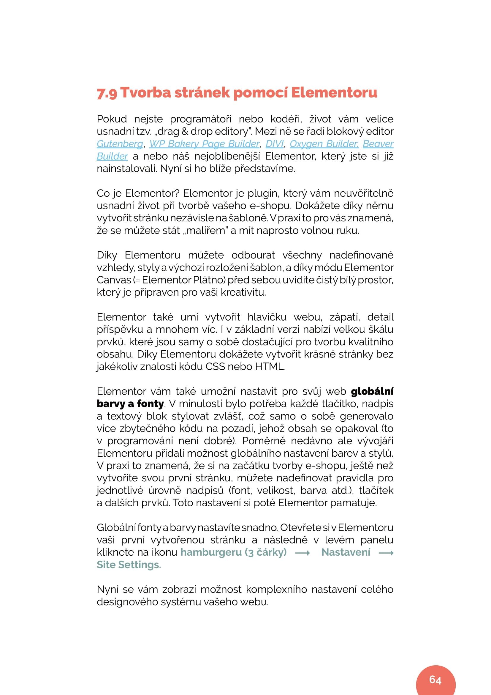 Tvorba stránek – ukázka návodu